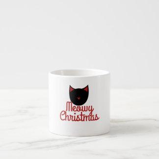 Navidad de Meowy Taza De Espresso