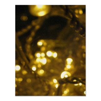 Navidad de metales pesados invitación 10,8 x 13,9 cm