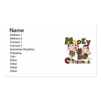 Navidad de Mooey Plantilla De Tarjeta De Negocio