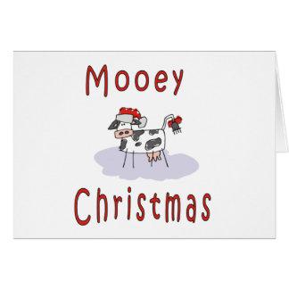 Navidad de Mooey Tarjeta De Felicitación