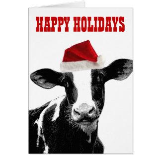 Navidad de Mooey y año feliz del MOO Felicitación