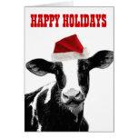 Navidad de Mooey y año feliz del MOO Tarjeta De Felicitación