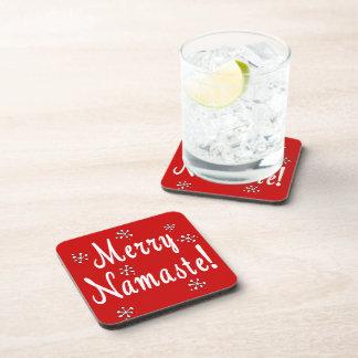 Navidad de Namaste Posavasos De Bebidas