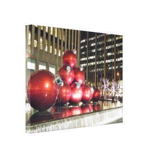 Navidad de New York City Impresiones En Lona