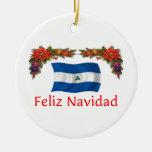Navidad de Nicaragua Adorno Navideño Redondo De Cerámica