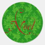 Navidad de Noel Pegatina Redonda