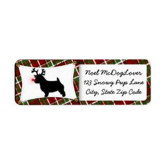 Navidad de Norwich Terrier Etiquetas De Remite