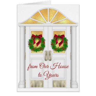 Navidad - de nuestra casa el suyo - general tarjeta de felicitación