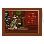Navidad, de nuestro hogar el suyo, pasado de moda felicitacion