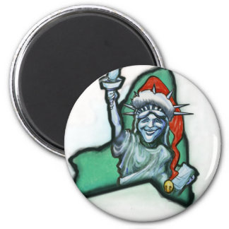 Navidad de Nueva York Imán Redondo 5 Cm
