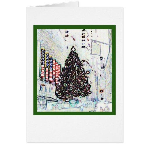 Navidad de Nueva York Tarjeta De Felicitación