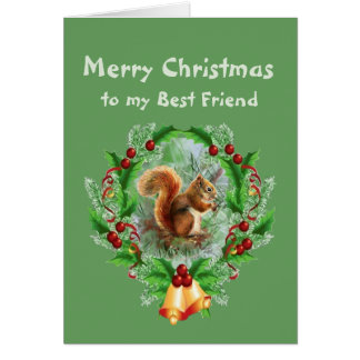 Navidad de nuez pero dulce del amigo que saluda la tarjeta de felicitación