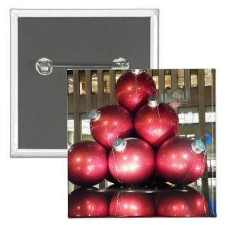 Navidad de NYC Pin Cuadrado