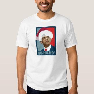 Navidad de Obama Ho Ho Ho Playera