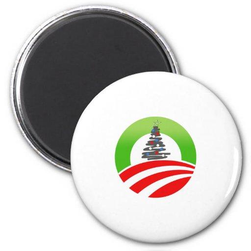 Navidad de Obama Imán De Frigorifico