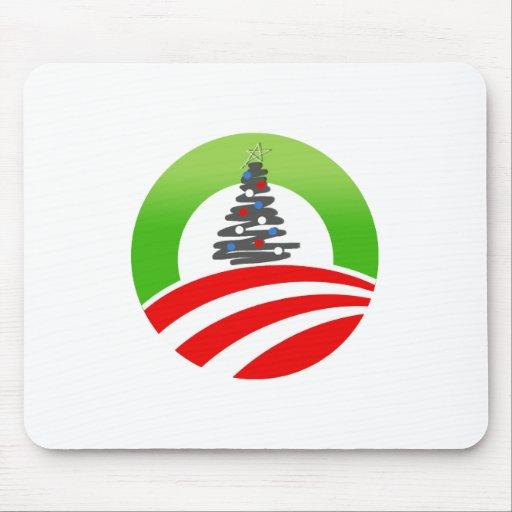 Navidad de Obama Tapete De Ratones