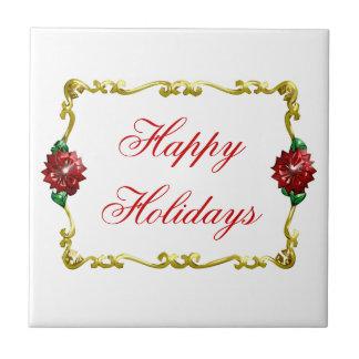 Navidad de oro #1 azulejo