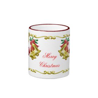 Navidad de oro #1 taza de dos colores