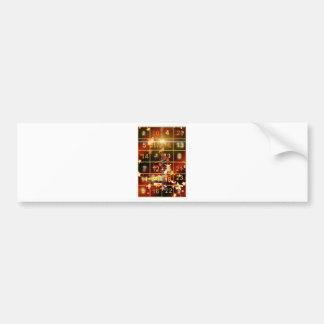 Navidad de oro de la puerta del calendario del pegatina para auto