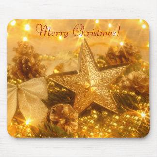 Navidad de oro Mousepad Alfombrilla De Ratón