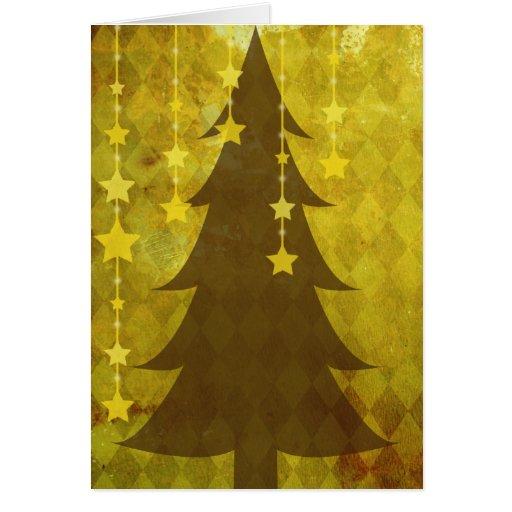 Navidad de oro tarjeta de felicitación