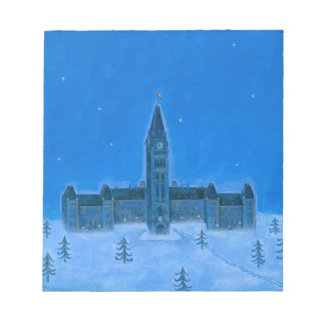 Navidad de Ottawa de los edificios del parlamento Bloc De Papel
