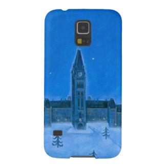 Navidad de Ottawa de los edificios del parlamento Carcasas Para Galaxy S5