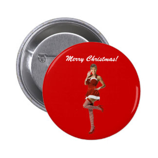 Navidad de Palin (camiseta, tarjetas de Navidad, b Pin Redondo De 2 Pulgadas