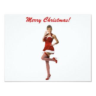 """Navidad de Palin (camiseta, tarjetas de Navidad, Invitación 4.25"""" X 5.5"""""""