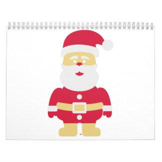 Navidad de Papá Noel Calendario De Pared