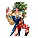Navidad de Papá Noel del tío Sam Postal
