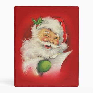 Navidad de Papá Noel del vintage Mini Carpeta