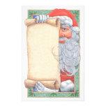Navidad de Papá Noel inmóvil Papelería Personalizada