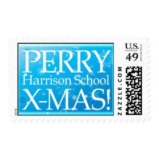 ¡Navidad de Perry! Timbre Postal