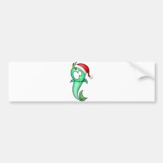 Navidad de Piscis Etiqueta De Parachoque