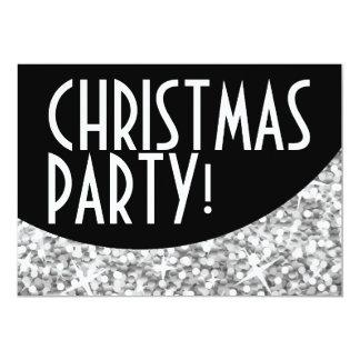 """"""" Navidad de plata Party de la curva negra 'del Invitación 5"""" X 7"""""""