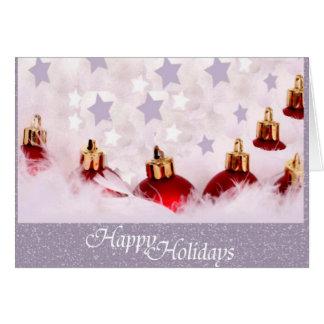 Navidad de plata tarjetón