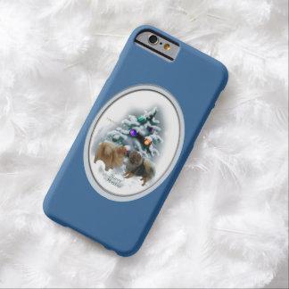 Navidad de Pomeranian Funda Para iPhone 6 Barely There