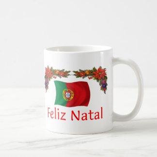 Navidad de Portugal Taza Básica Blanca