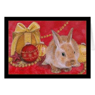 Navidad de Rabit del conejito del navidad adorna Tarjeta De Felicitación