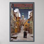 Navidad de Rothenburg - de Markusturm Poster
