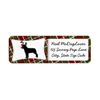 Navidad de Rottweiler Etiquetas De Remite