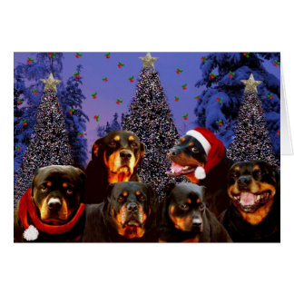 Navidad de Rottweiler Tarjeta De Felicitación