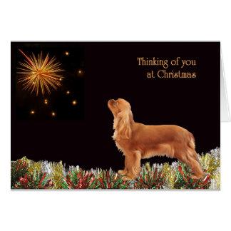 Navidad de rubíes arrogante tarjeta de felicitación