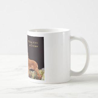 Navidad de rubíes arrogante taza de café