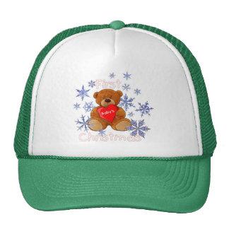 navidad de s primer gorras de camionero