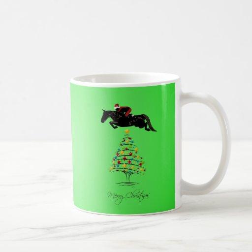 Navidad de salto del caballo taza clásica