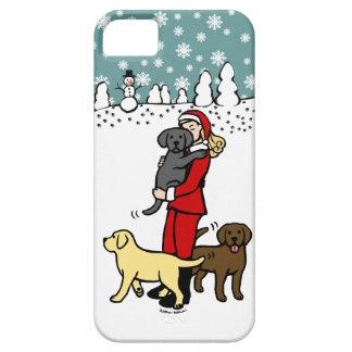 Navidad de Santa de la mamá del laboratorio iPhone 5 Cárcasas