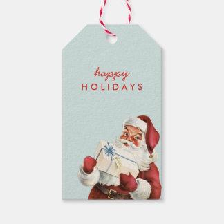 Navidad de Santa del vintage del día de fiesta Etiquetas Para Regalos