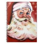 Navidad de Santa del vintage Notebook